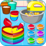 Cooking colorful cake APK icon