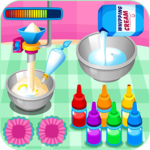 Cooking colorful cupcakes APK icon