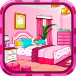 Girly room decoration game APK icon