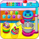 Cooking rainbow cupcakes APK icon