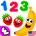 Funny Food 123! Kids Number Games for Toddlers APK icon