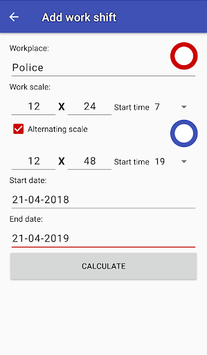 Easy work scheduling APK screenshot 2