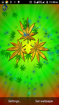... Weed Live Wallpaper APK screenshot 3