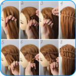 Hairstyle Tutorials for Girls layered hairstyles APK icon