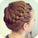 Hairstyle for cute girls 2017 Hairstyle at home APK icon