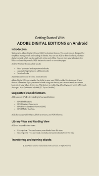 Adobe Digital Editions APK screenshot 2