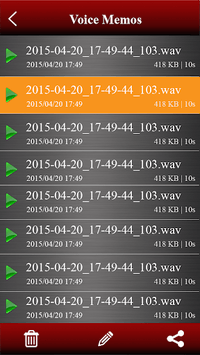 Voice recorder APK screenshot 2