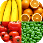 Fruit and Vegetables, Nuts & Berries: Picture-Quiz APK icon