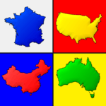 Maps of All Countries in the World: Geography Quiz APK