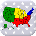 50 US States Map, Capitals & Flags - American Quiz APK icon