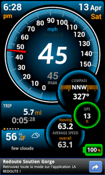 Ulysse Speedometer APK screenshot 1