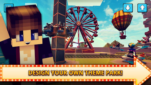 Theme Park Craft 2: Build & Ride Roller Coaster APK