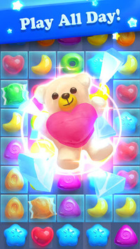 Crazy Candy Bomb - Sweet match 3 game APK screenshot 1