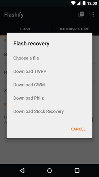 Flashify (for root users) APK : Download v1 9 2 for Android
