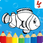 Coloring games for kids animal APK icon