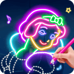Learn To Draw Glow Princess APK icon