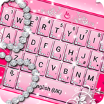 Pink Sparkling Diamond Princess Keyboard Theme APK