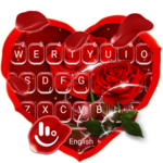 Romantic Red Rose Flower Keyboard Theme APK icon