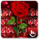 Romantic Flower Red Rose Sparkling Keyboard Theme APK