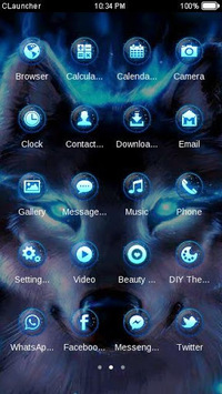 Wolf Blue Flames Theme Meizu APK : Download v3 9 4 for Android at