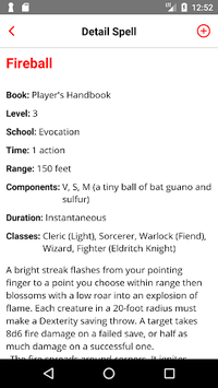 Spell List D&D 5th Edition APK : Download v2 4 for Android