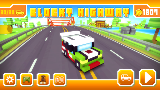 Blocky Highway: Traffic Racing APK screenshot 1