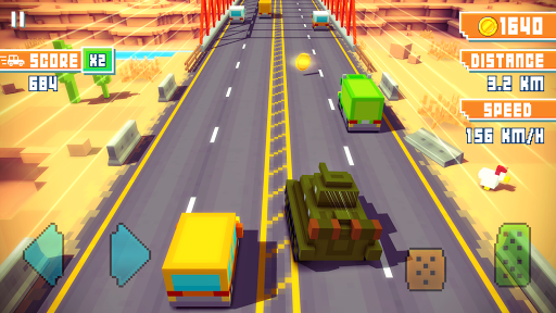Blocky Highway: Traffic Racing APK screenshot 3