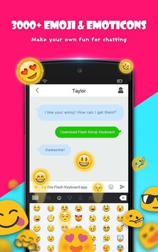 Flash Keyboard - Emoji & Theme APK screenshot 1