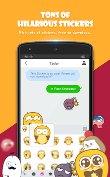 Flash Keyboard - Emoji & Theme APK screenshot 2