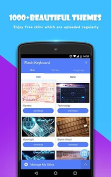 Flash Keyboard - Emoji & Theme APK screenshot 3