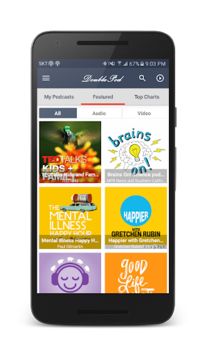 DoublePod Podcasts for android APK screenshot 1