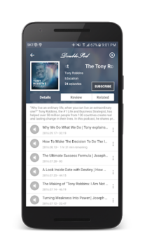 DoublePod Podcasts for android APK screenshot 2