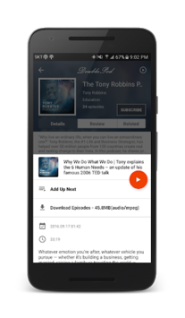 DoublePod Podcasts for android APK screenshot 3