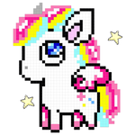 Unicorn: Color by Number, Pixel Art Color Number APK icon