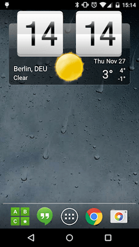 Sense Flip Clock & Weather APK screenshot 1