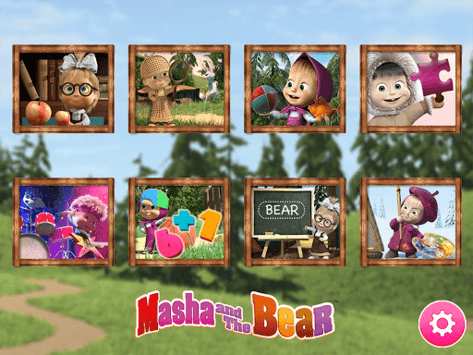 Masha and the Bear. Educational Games APK screenshot 1