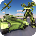 US Army Tank Robot Transform Cargo Plane Transport APK icon