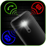 Flashlight on call, SMS and Alerts APK icon