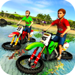 Kids Water Surfer Motorbike Racing - Beach Driving APK