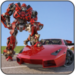 Muscle Car Robot Transformation Game 2018 APK icon