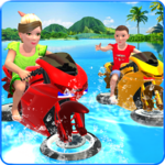 Kids Water Surfing Bike Racing APK icon