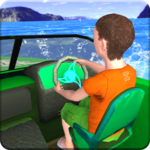 Kids Water Taxi Boat Ride Simulator : Stunts Arena APK icon