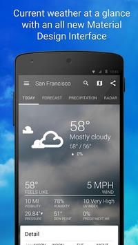 1Weather:Widget Forecast Radar APK screenshot 1