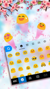 Pink Glass Sakura Keyboard Theme APK : Download v1 0 for