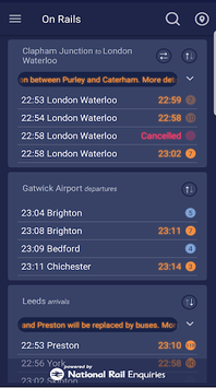On Rails - Live Train Times & Widget APK : Download v1 34