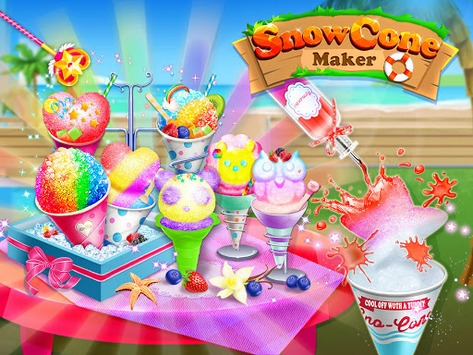 Snow Cone Maker - Frozen Foods APK screenshot 1