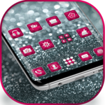 Silver Pink Glitter launcher for Galaxy S8 lovers APK icon