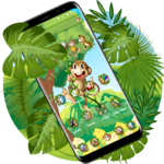 The Cute Cartoon Monkey Theme APK icon
