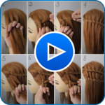 Hairstyle Video Tutorial for Girls 2019 APK icon