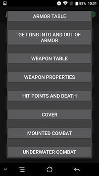 Cheat Sheet for 5e APK : Download v1 5 for Android at